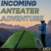 An advertisement for Incoming Anteater Adventure by UCI's Campus Recreation.