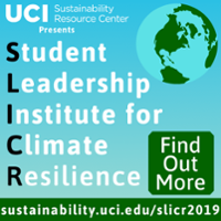 An advertisement for Student Leadership Institute for Climate Resilience 2019.